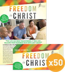 Freedom In Christ Course Pack of 50 A4 Invitations