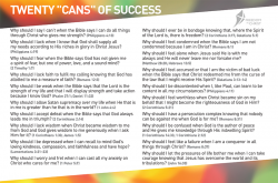 Freedom In Christ Course Postcard - The 20 Cans of Success