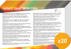 Postcard Pack - The 20 Cans of Success x20