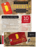 disciple Over-printable Invitations
