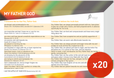 Postcard Pack - My Father God x20