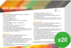 Who I Am In Christ Postcard Pack x20